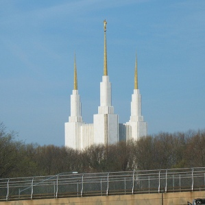 The Mormon Temple serves as the centerpiece of one of my favorite hill routes.