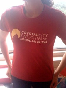 If nothing else, I'll get a sweet technical T-shirt out of the Crystal City Twilighter 5K!