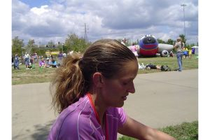 My tail-fro in full effect after the Nashville Country Music Marathon in 2007.
