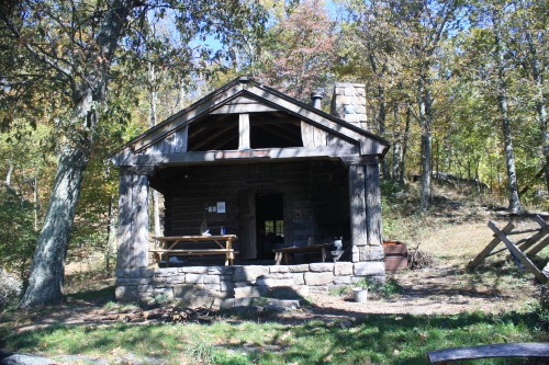 Doyles River Cabin in Shenandoah National Park is one of many backcountry cabins we've stayed in.