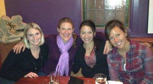 My runner-friends gathered at Zia Marie's for a goodbye dinner.