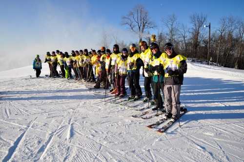 Participants in the inaugural 100K Vertical Challenge in 2012 at Whitetail Resort in Mercersburg, Penn.