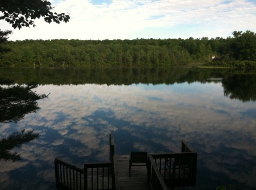 Photo of Lake Desolation taken just before my morning swim.