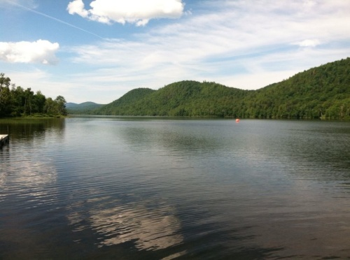 Beautiful Thirteenth Lake the day of the Fourth Annual Super Summer Splash 1-mile Open Water Swim.